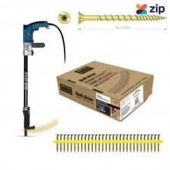 Simpson Strong-Tie WSV50SA - Quik Drive 50mm x 10g 2000 Pack Twin Lead Thread Countersink HD & Timber Screw Yellow Zinc Flooring Screw Deck Screws