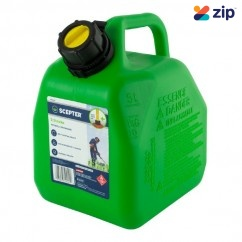 Scepter 8265 - 5L Plastic Squat Style 2-Stroke Fuel Green Jerry Can FUE8265 Petrol Containers