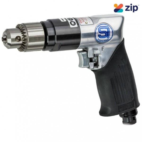 "Shinano SI-5305A - 10mm 3/8"" 2000RPM Heavy Duty Reversible Drill Air Drill"
