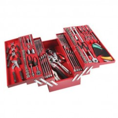 SidChrome SCMT10136 - 136 Piece Metric/AF 5 Tray Cantilever Tool Box Kit Workshop Tool Boxes & Trolleys