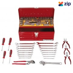 SidChrome SCMT10142 - 65 Piece Metric/AF Heavy Duty Cantilever Tool Box Kit Workshop Tool Boxes & Trolleys