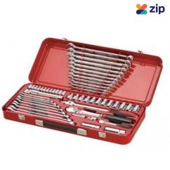Sidchrome SCMT10178 - 56 Piece 1/4'' & 1/2'' drive Socket and Spanner Combination Set Socket Sets