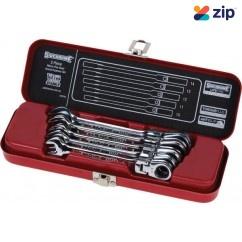 Sidchrome SCMT22204 - 5 Piece Flex-Head Geared Wrench Set - Metric