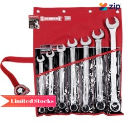 Sidchrome SCMT22209 - 7 Piece Ring Open End Metric Spanner Set Metric Tool Kit