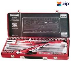"""Sidchrome SCMT10175 - 60 Piece 1/4"""" & 1/2"""" Metric & AF Drive Socket & Spanner Set Socket Sets"""
