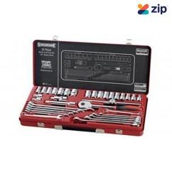 """Sidchrome SCMT10184 - 35 Piece 1/2"""" Metric & AF Drive Socket & Spanner Set Socket Sets"""