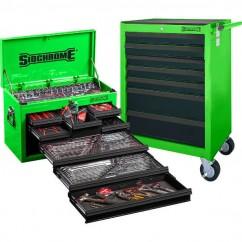 Sidchrome SCMT10159G - 262 Piece Green Metric/AF Tool Kit Tool Kit