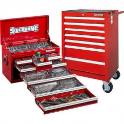 Sidchrome SCMT10159R - 262 Piece Red Metric/AF Tool Kit Tool Kit