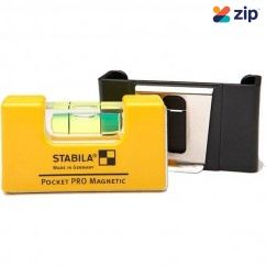 Stabila 17768 - 70mm PRO Magnetic Pocket Level with belt clip Measuring Level