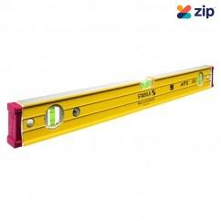 Stabila 96-2/244 - 2440mm Box Frame Ribbed Trade 3 Vial Spirit Level  Measuring Level