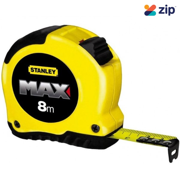 Stanley 33-913 - 8m Max Tape Measure - Red/Yellow Mix Measuring Tape