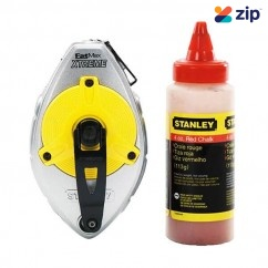 Stanley 47-483L – 30m Fat Max Extreme Chalk Line Reel Set Red Chalk Lines and Chalk