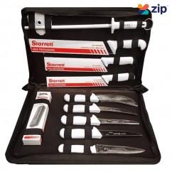 Starrett BKK-11W - Professional Butchers Knife 11 Piece Set  Cutting Knives