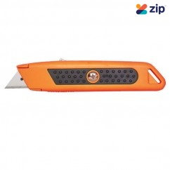 Sterling 114-2R - Auto-Retracting Orange Safety Knife With Rubber Grip