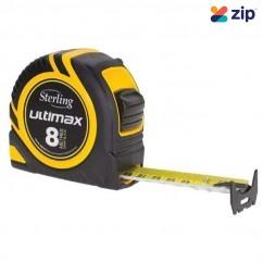 Sterling TMX8025 - 8mx25mm Ultimax Metric Tape Measure Measuring Tape