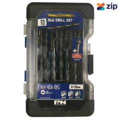 P&N Professional Tools 149060005 - 25 Piece 2-13mm HSS Blu Drill Set Metal Drills