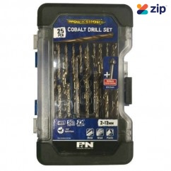 P&N Professional Tools 149060006 - 25 Piece 2-13mm Heavy Duty Cobalt Drill Set Set Metal Drills
