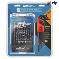 Sutton D102SM3BNS - 25 Piece Blue Bullet Metric Drill Set Driver Bit Sets