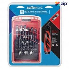 Sutton Tools D102SM3MGO - 25 Piece Blue Finish Metric Drill Set