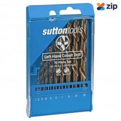 Sutton Tools D202LH10M – 1.0-10.0 x 1.0mm Rises 10PC Left Hand HSS Jobber Drill Set Drill/Driver Bit Sets