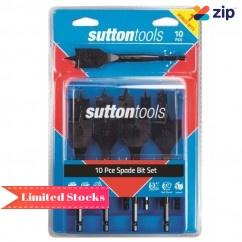 Sutton Tools D501SS10 - 10 Piece 10-38mm Spade Bit Set Spade Bits