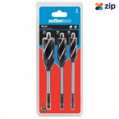 Sutton Tools D5140003 - 3 Piece 4 Flute 16-25mm Auger Bit Set Timber Augers