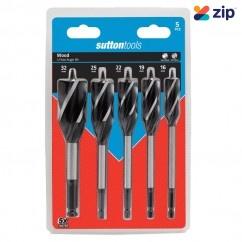 Sutton Tools D5140005 - 5 Piece 4 Flute 16-32mm Auger Bit Set Timber Augers