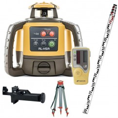 Topcon RL-H5A-SET - Self Leveling Construction Red Beam Rotating Laser RL-H5A with LS-80L Receiver, Tripod and Staff 11021200-07TS