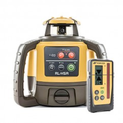 Topcon RL-H5APREMRECH - Self Leveling Construction Red Beam Rotating Laser Level w/ LS-100D Receiver & Rechargeable Battery Rotating Lasers