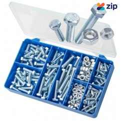 Torres HAK11 - 150 PCE Mild Steel Hex Bolt & Nuts Kit Screws