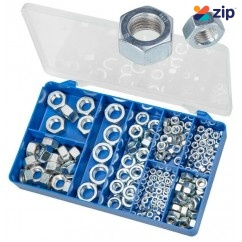 Torres HAK12 - 200 PCE DIN 934 Zinc Plated Hex Nuts Kit Screws