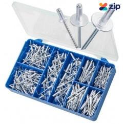 Torres HAK16 - 200 PCE Aluminium Countersunk & Large Flange Pop Rivets Kit Screws
