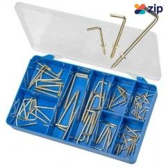 Torres HAK35 - 70 PCE Brass Plated L Type Hooks Kit Screws