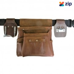 Trade Time 200 - Two Pouch Single Carpenter's Nail Bag Tool Aprons, Belts & Holders