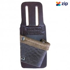 Trade Time Square Holder - Full Grain Leather Roofing Square Holster - Slotted Holders