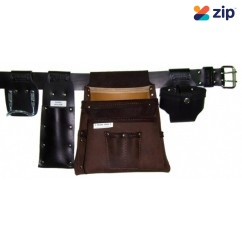 Trade Time Ultimate 200 Deluxe - 3 Pouch Single Carpenter's Nail Bag Tool Aprons, Belts & Holders