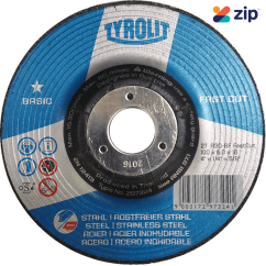 Tyrolit Y297324 Basic Rough Grinding Wheel 100x6.0x16mm for Steel/Stainless