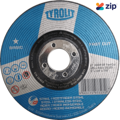 Tyrolit Y297327 Basic Rough Grinding Wheel 125x6.0x22.2mm for Steel/Stainless