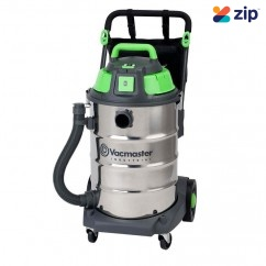 Vacmaster VMVK1660SWDC - 1600W 60L Wet and Dry Stainless Steel Industrial Vacuum Dust Extractors for Power Tools