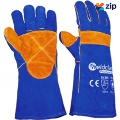 Weldclass WC-01775 - 400mm Promax Kevlar Sewn Blue Welding Gloves 8-WGX03 Gloves