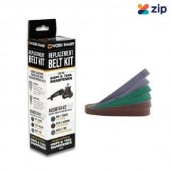 "WorkSharp WSKBELT6PC- 1/2""x12"" 6PC OE Replacements Assorted Belt Kit WSSA0002012 Sanding Discs, Papers & Wheels"