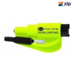 RESQME Car Escape Tool - 2 in 1 Glass Breaker & Seat Belt Cutter w/ Key Ring