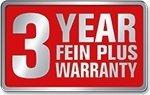 Fein 3+ Warranty